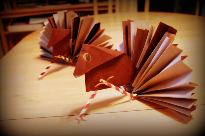 Turkeys from origami class