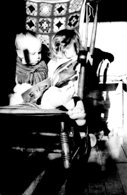 Me and my sister reading together, ages ago