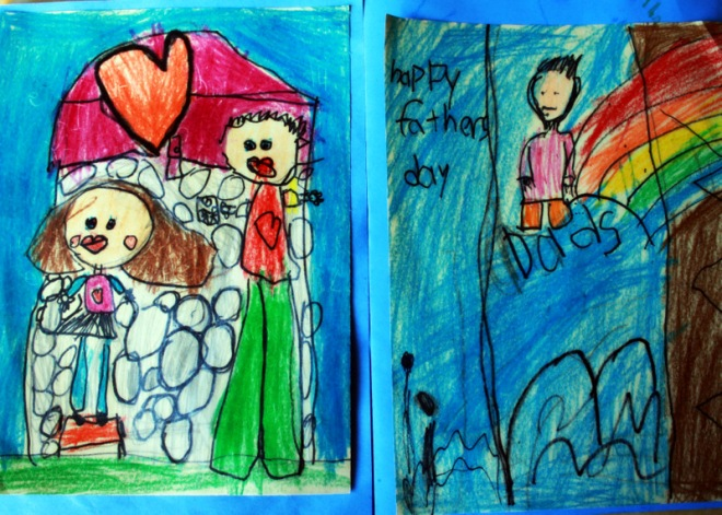 Fathers' Day Cards (Claire's on left, Ronin's on right)