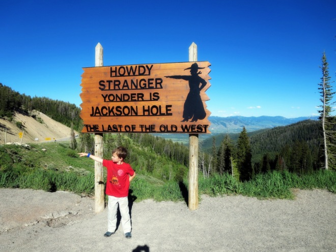 Grandma and I went to Wyoming. We flew to Idaho Falls and drove over Teton Pass.