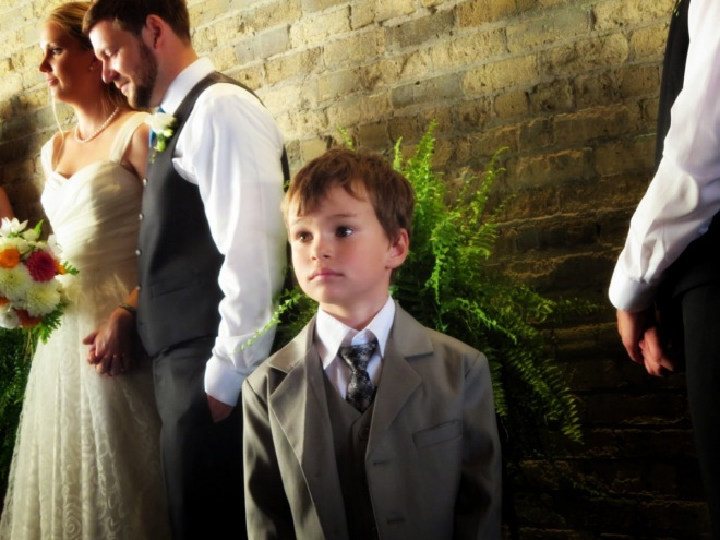 Ronin was asked at the last minute to be the ring-bearer, and he did a fantastic job