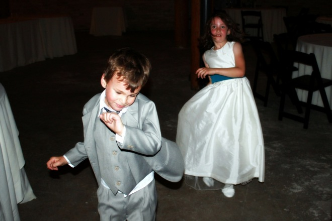 Ronin and Claire, dancing through the night on their 7th birthday