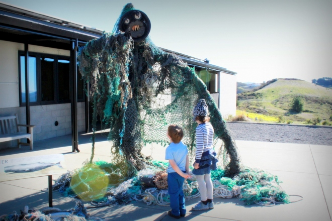 Sea Monster Display at the Marine Mammal Center, Sausalito