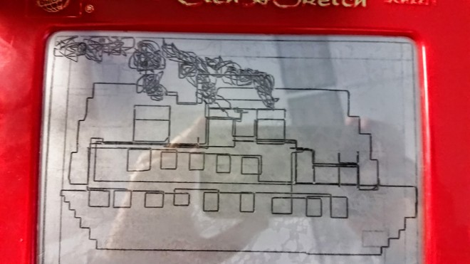Etch-a-Sketch ship