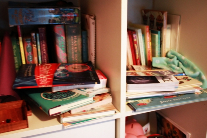 Another section of book/toy shelf