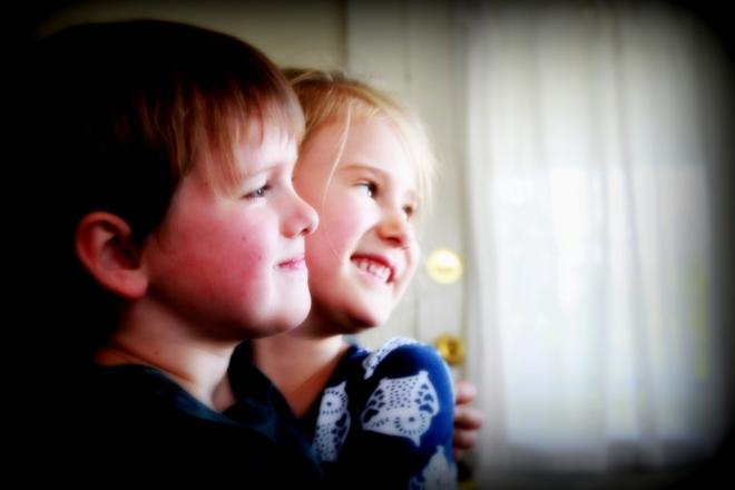 Soren and Maiya at his birthday party