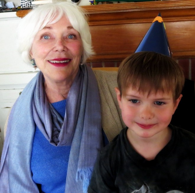 Omie and Soren at his birthday party
