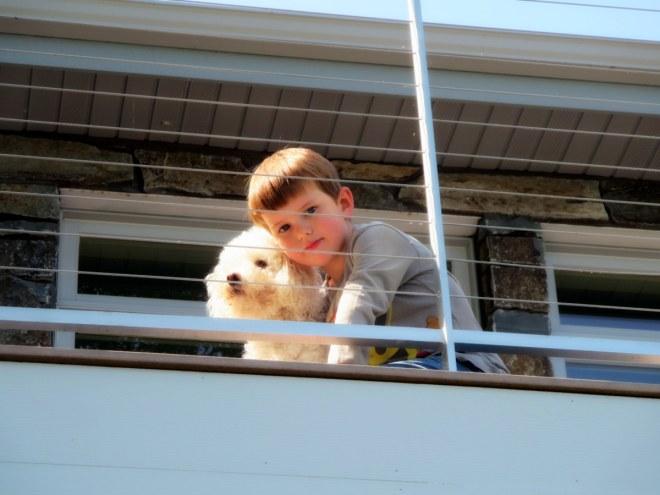 Everyone loved Linda's dog (Sparky) and Katy's dog (Nittany).
