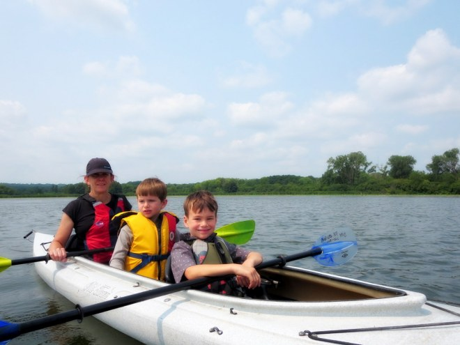 I felt sorry for Soren not getting to paddle.