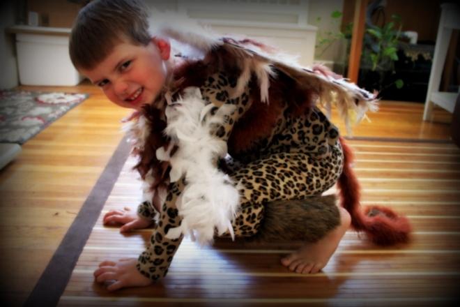 Soren's griffin costume in progress