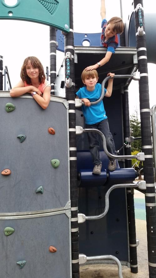 On the playground near the photoshoot